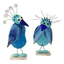 Glasfugle, turkis - flotte finurlige fugle