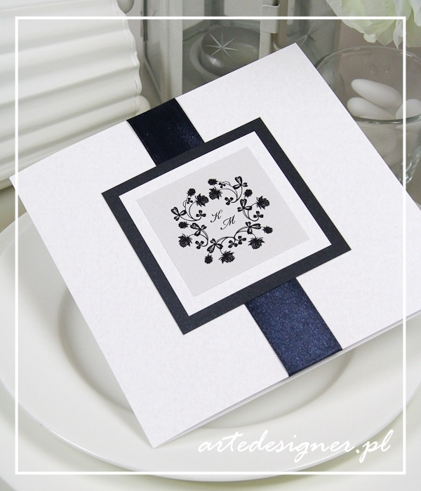 Zaproszenia ślubne Vintage / Vintage wedding invitation. Product By / www.artedesigner.pl