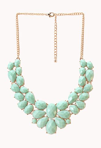 Femme Cluster Faux Stone Necklace   FOREVER21 - 1000089693-- Love the necklace for parties!!