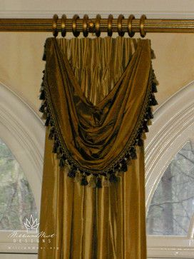 VALANCE OVER PINCH PLEAT CURTAINS IS A SIMPLE SOLUTION THAT ADDS A DECORATIVE SPLASH