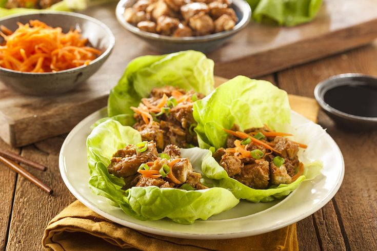 Healthy Asian Chicken Lettuce Wraps : Sargent Farms
