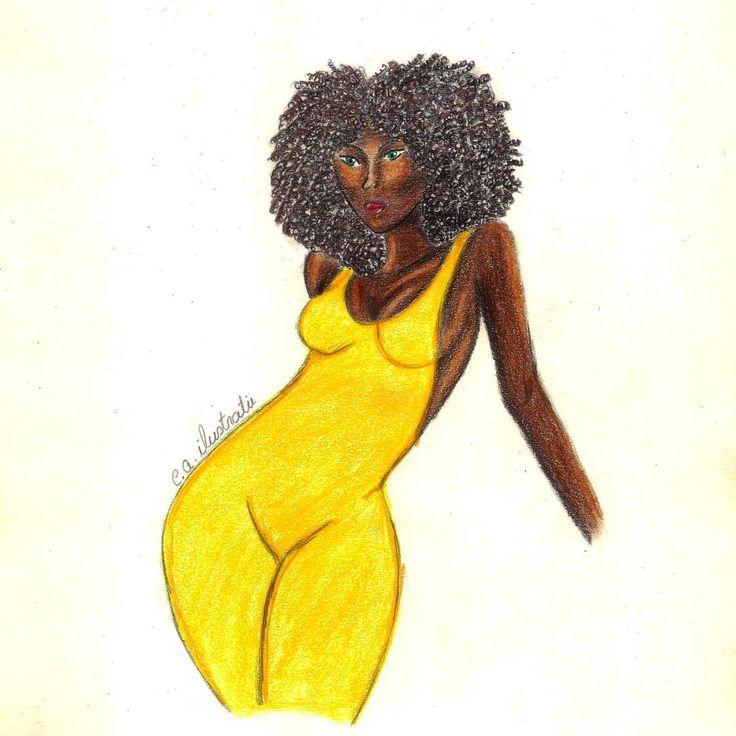 "64 aprecieri, 4 comentarii - C.A. (@c.a.ilustratii) pe Instagram: ""#curlyhair #drawing #artfashion #arta #artist  #violet #schite #yellow #picture #art #desing#love…"""