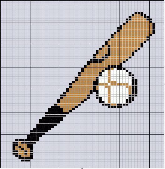Baseball hama perler beads pattern