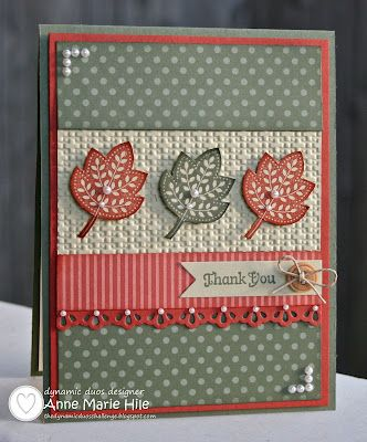 Stamps: Day of Gratitude and Full of Life (inside sentiment, retired)  Paper: Regals DSP Paper Pad, Cajun Craze, Always Artichoke and River Rock card stock  Ink: Cajun Craze and Always Artichoke Classic ink  Accessories: Finishing Touches Die, Bitty Banners Die, Square Lattice Embossing Folder, Stamping Sponges, Basic Pearls, Natural Buttons (Holiday Catalog), Hemp Twine and Stampin' Dimensionals