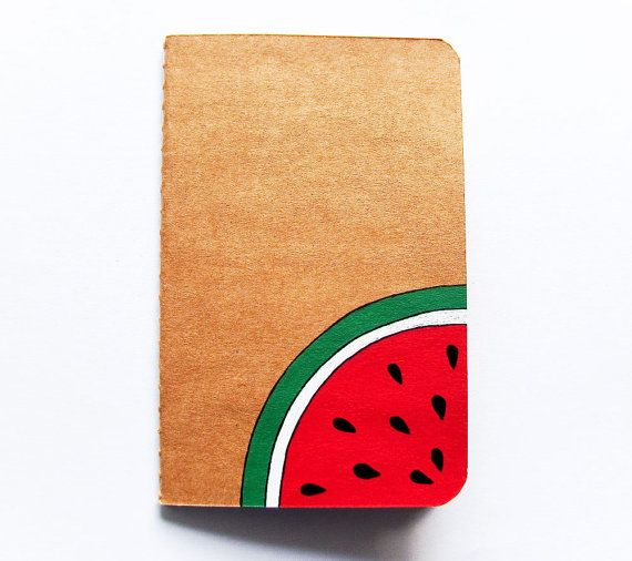 Handpainted notebook decorated journal with by InspirationalGecko, €7.00