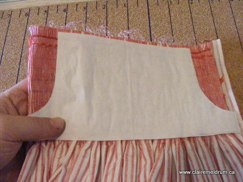 How to take a smocked piece and shape it for arm holes etc.