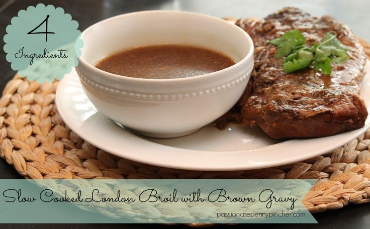 4 Ingredient Slow Cooker London Broil ~ you won't believe how easy this one is (and it works great with the Publix & Aldi sale ads this week!)