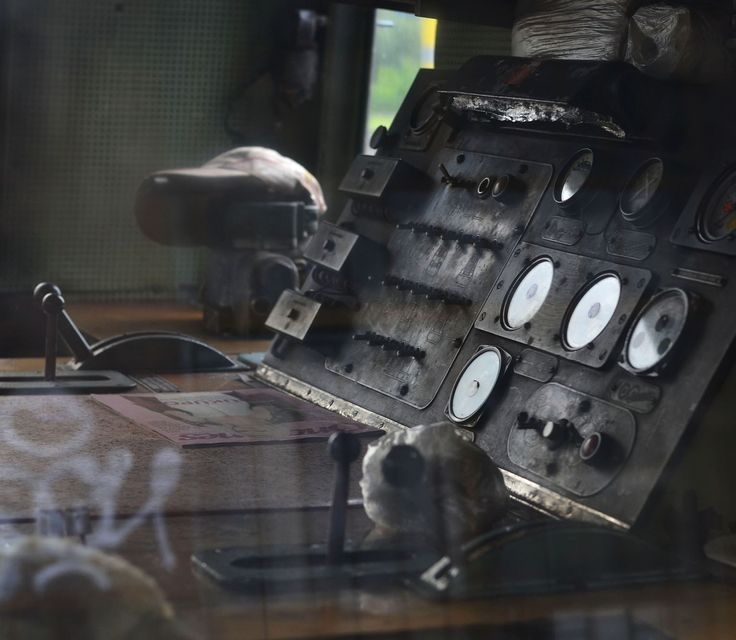 Control panel from an old train.