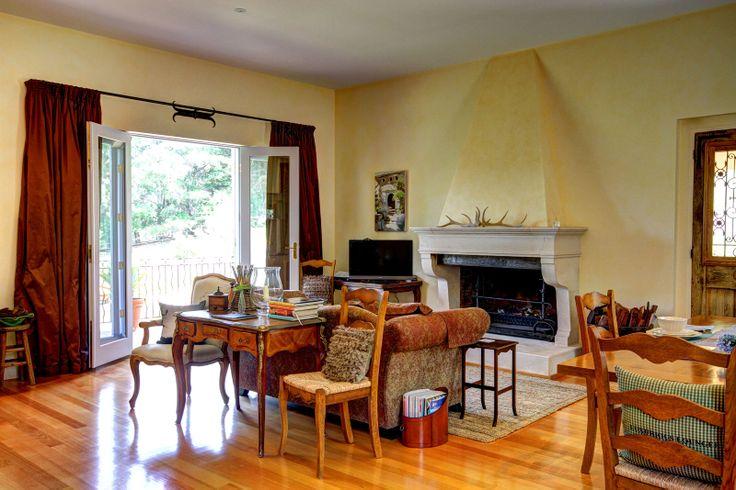 Provence house Australia - Limestone fireplace