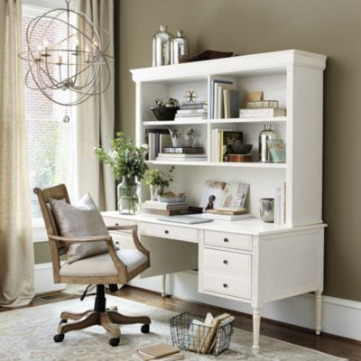 Verona Desk with Hutch - (from www.ballarddesigns.com) - I'm very interested in this one!