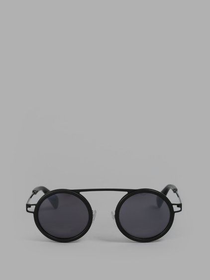 YOHJI YAMAMOTO Yohji Yamamoto Black Sunglasses. #yohjiyamamoto #eyewear