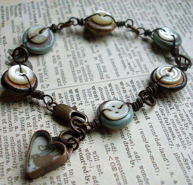 Vintage button bracelet, P1015482 by Lorelei1141, via Flickr