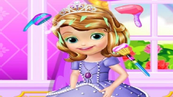 Em Princesinha Sofia Cuidando de Cabelo, a linda Princesinha Sofia está com o cabelo feio e precisa de cuidados. Por isso, hoje ela resolveu cuidar de seus cabelos, mas não sabe como. Será que você pode ajuda-la. Ajude-a lavando seus cabelos, fazendo tratamento e massagens. Depois perfume e o arrume. Divirta-se!