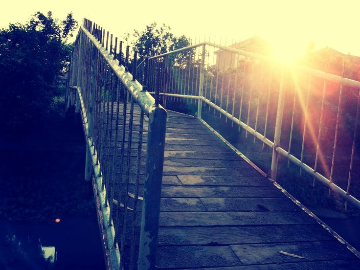 sunset from bridge. childhood. just memory