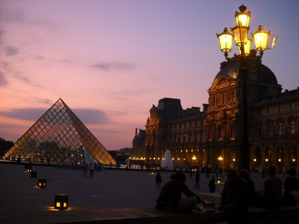 I miss the louvre sunset!