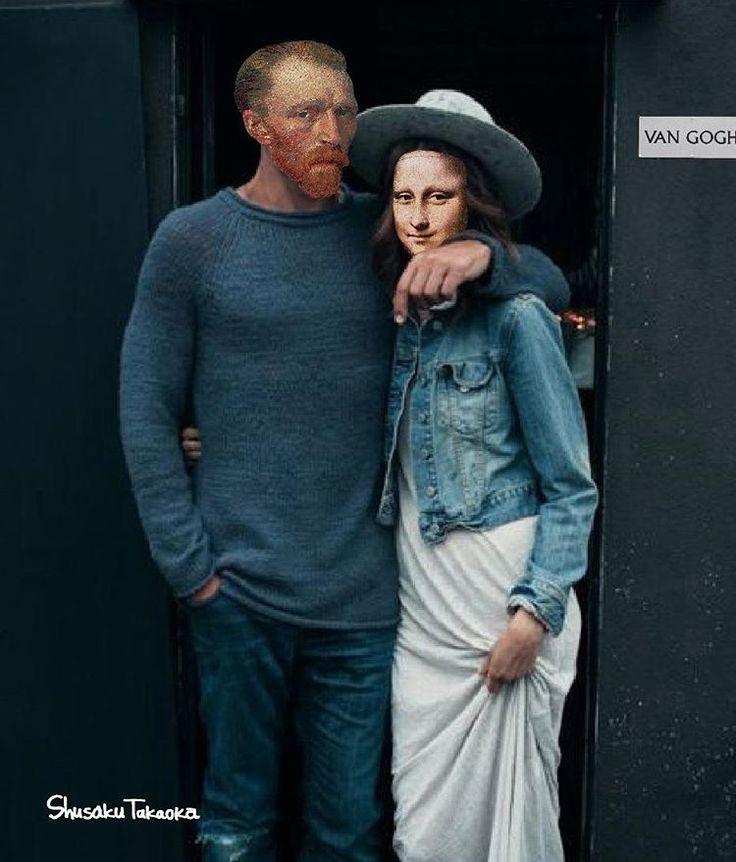 Se le icone dell'arte fossero hipster, la tresca tra van Gogh, Monna Lisa e la ragazza col turbante