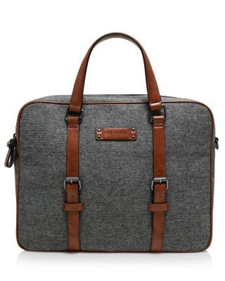 TED BAKER Digger Wool Document Bag. #tedbaker #bags #polyester #leather #lining #shoulder bags #hand bags #wool #cotton #