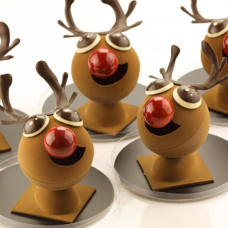 CHOCOLATE RUDOLF figurines hand made this Christmas. Available in store only until sold out! Get him under your tree #cacaofinechoc #chocolate #Melbourne #chocolatier #pastrychef #cute