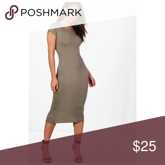 NWT Khaki Midi Dress - Size 6 NWT Khaki Midi Dress - Size 6 Dresses Midi