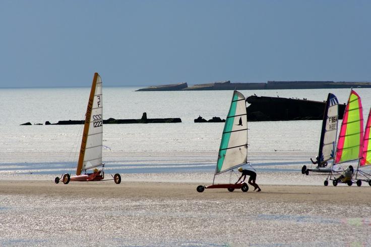 Char à voile sur la cote Normande ....www.martinaa.fr