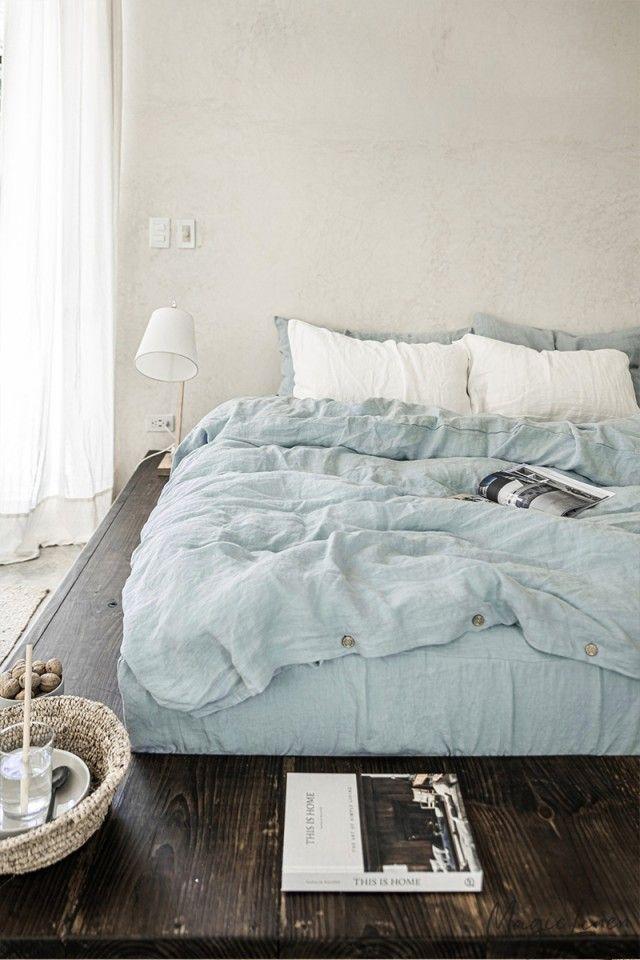 Dusty Blue Linen Duvet Cover Linen Duvet Bed Linen Sets Duvet Covers Bohemian