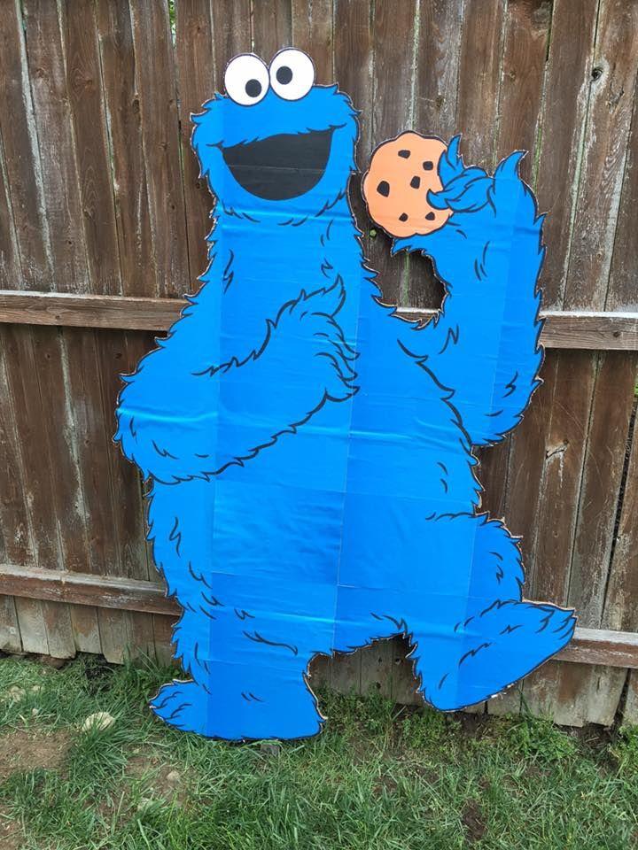 Cookie Monster Cardboard Cutout For Sesame Street Birthday