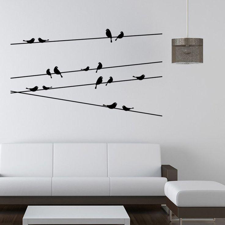 Branch Black Bird Wall Sticker //Price: $8.65 & FREE Shipping //     #stickers