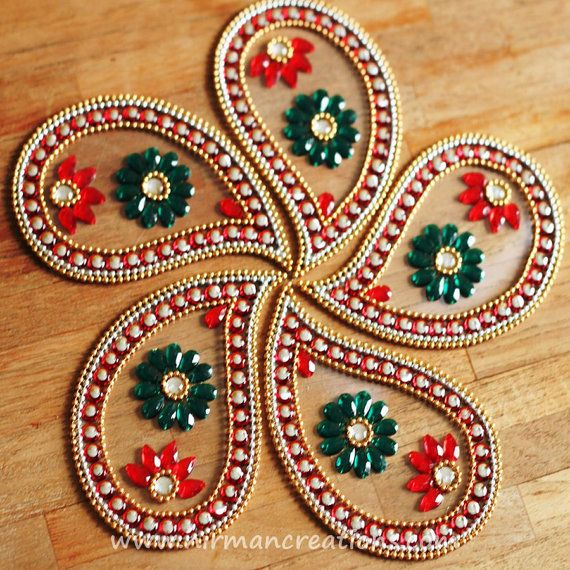 Rangoli - Red by Nirman on Etsy
