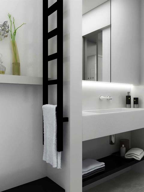 Narrow radiator - Gekko towel radiator