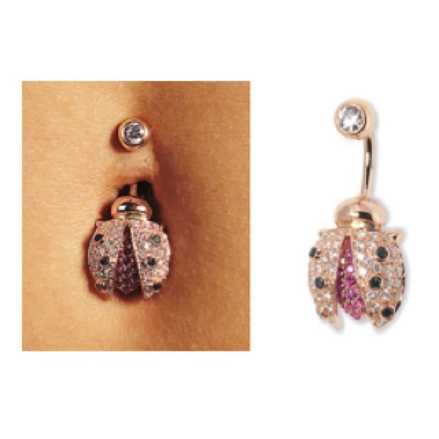 If I got a belly piercing I'd get this belly ring. Bellybella.com