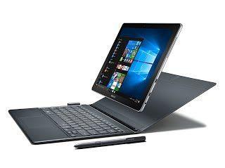 """Samsung Galaxy Book 12"""" 128GB Tablet (Silver, SM-W720NZKBXAR)"""