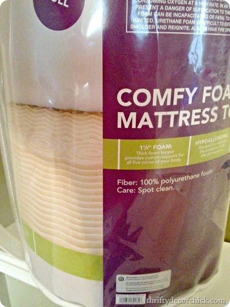 foam mattress for upholstered headboard