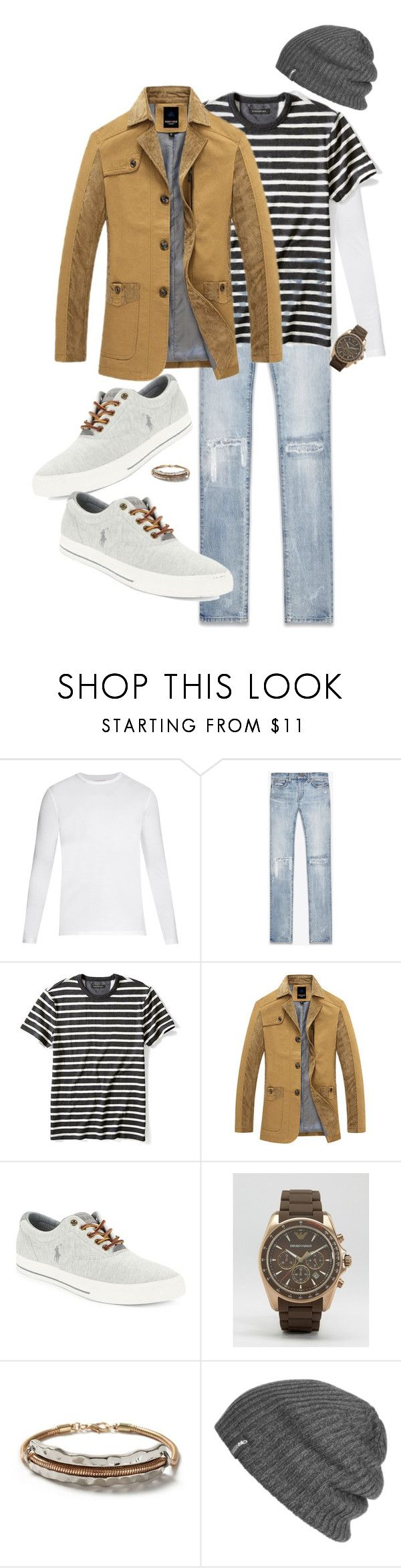 """""""Joey"""" by ccoss on Polyvore featuring Derek Rose, Yves Saint Laurent, Banana Republic, Polo Ralph Lauren, Emporio Armani, Topman, Outdoor Research, men's fashion and menswear"""