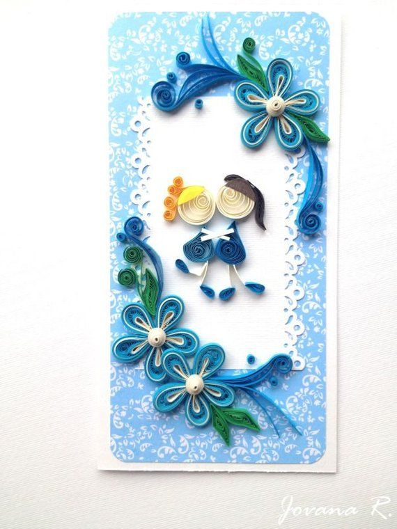 Quilling Card Friendship Card Sisters Card Handmade Card