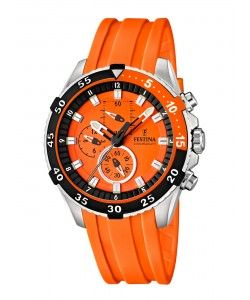 FESTINA Chronograph Orange Rubber Strap F16604/3