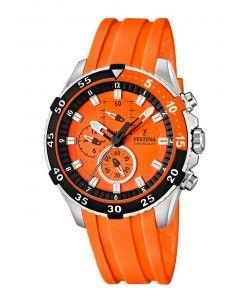 FESTINA Chronograph Orange Rubber Strap F16604/3