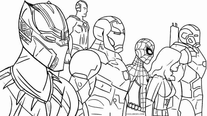 Avengers Colouring Pages Cinebrique