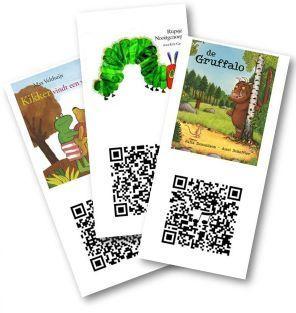 50 kaarten met QR codes met links naar digitale prentenboeken.
