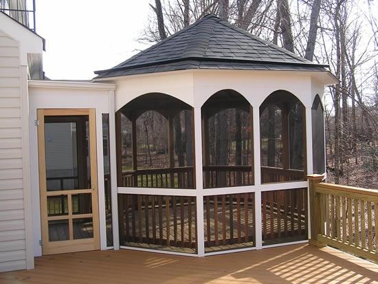 gazebo as a screened porch