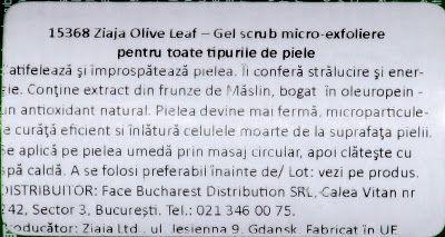 Review cleansing oil si gel scrub Ziaja Olive Leaf | JustAnAngel.net