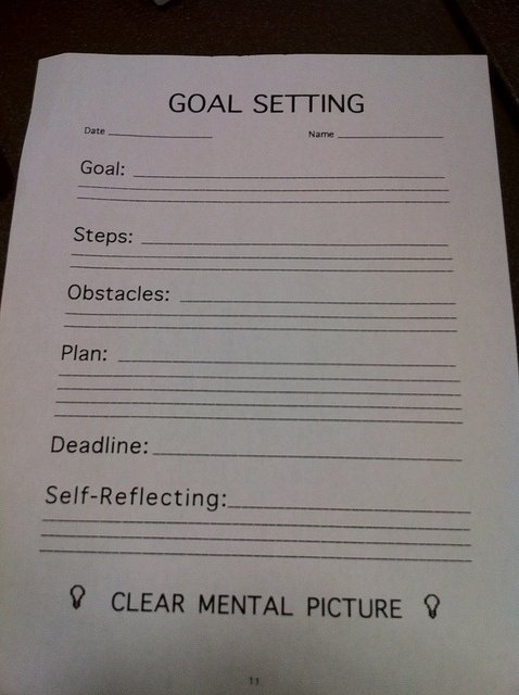 Goal Setting Sheet Therapy worksheets, Classroom, School