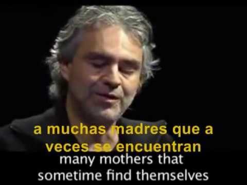 Andrea Bocelli narra una historia  sobre el aborto.