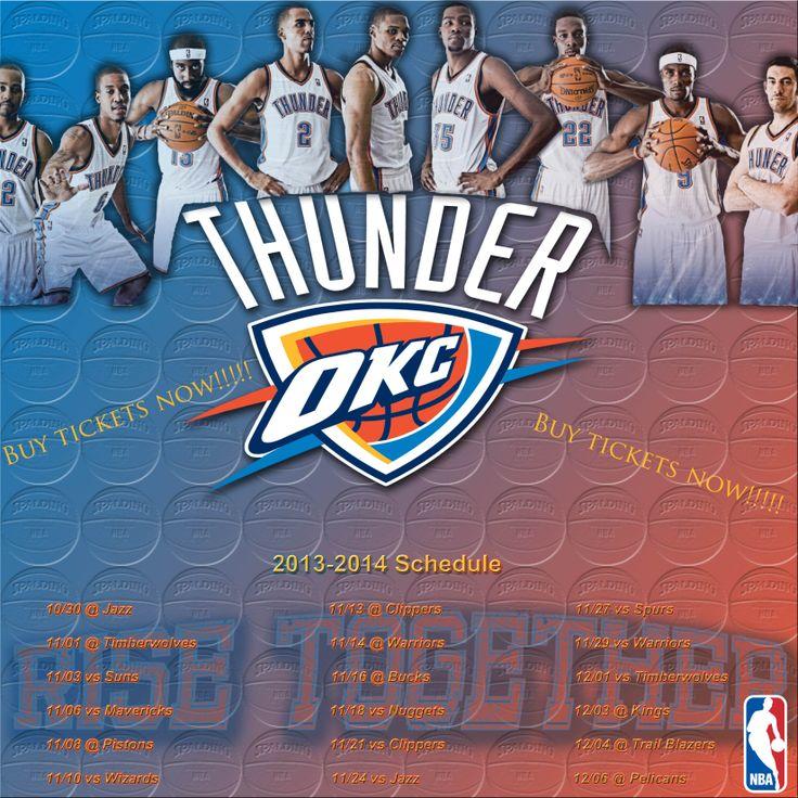 Thunder B-ball schedule