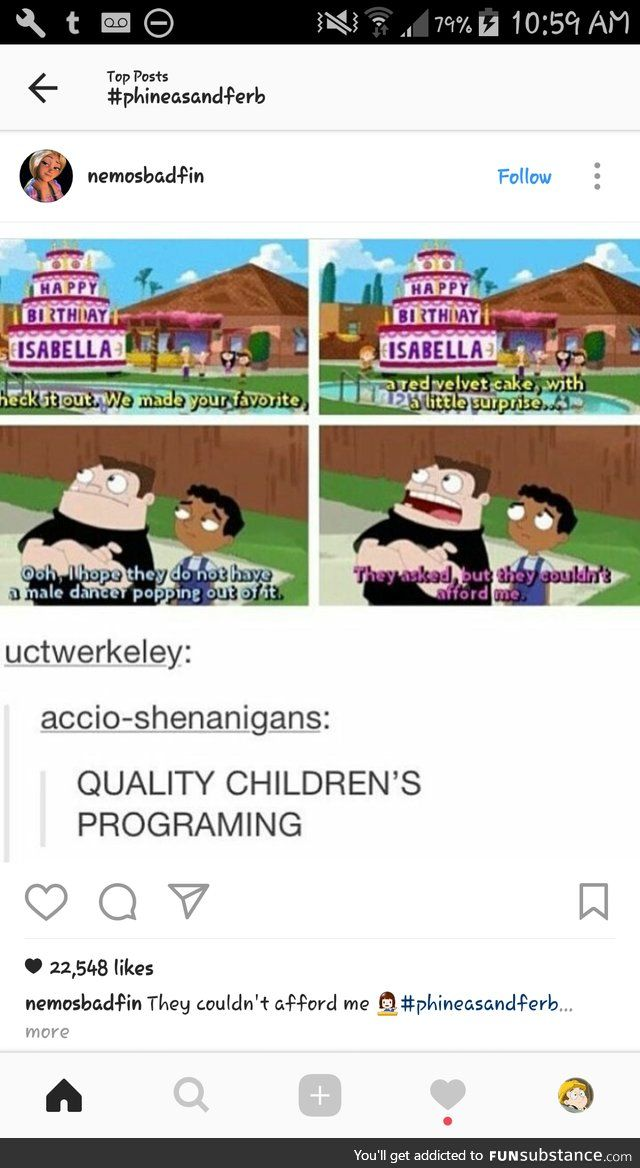 I love Phineas and Ferb