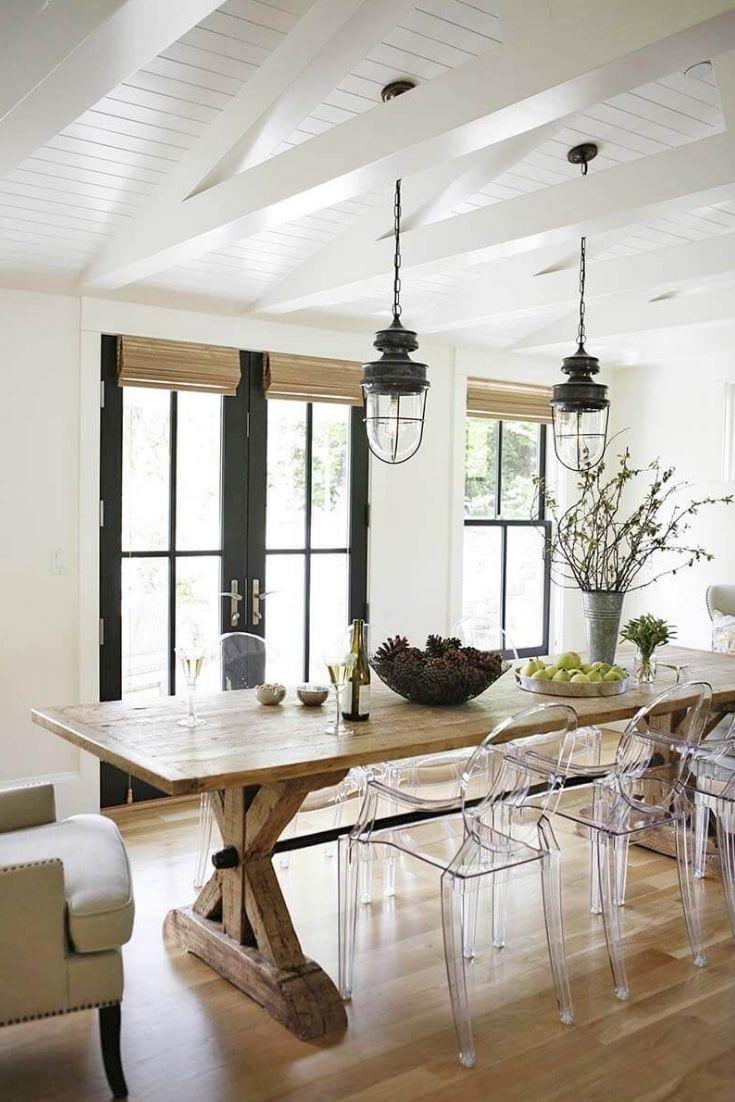 Best Farmhouse Lighting Ideas Modern Farmhouse Dining Room Farmhouse Dining Room Table Modern Farmhouse Dining
