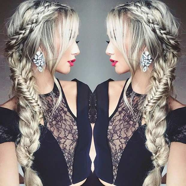 Braided Hair to the Side