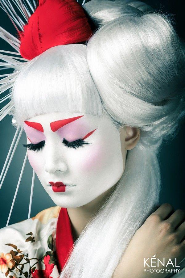 Avant Garde Geisha Makeup