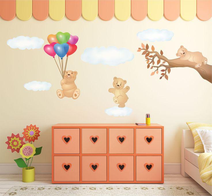 oltre 25 fantastiche idee su decorazioni orsetti su pinterest ... - Decorazioni Pareti Orsetti