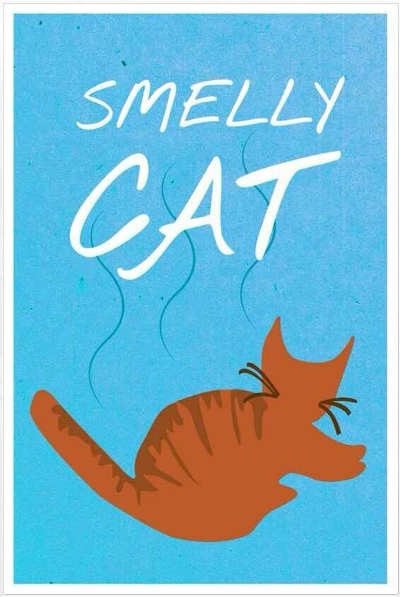 I love this! Lol it's smelly cat from the tv show friends! (Phoebe Buffey (Lisa Kudrow) made a song about it!) #thatsbeauty