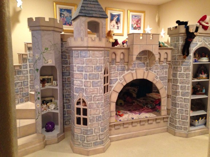 Hand Painted Disney Castle Bed For Little Girls Princess